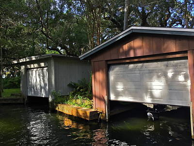 Photograph - Winter Park Canal Boathouses by Denise Mazzocco