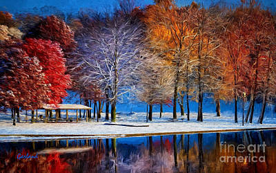 Winter Park Art Print by Garland Johnson