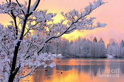 Photograph - Winter Pastels by Frank Townsley