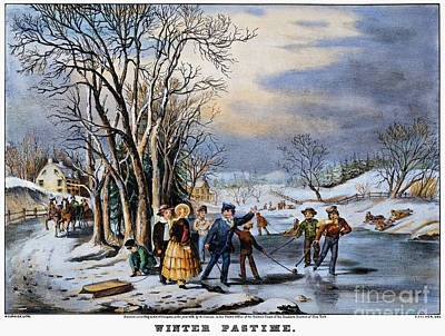 Painting - Winter Pastime, 1856 by Granger