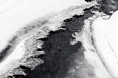 Photograph - Winter Patterns 1. Frozen Nature by Jenny Rainbow