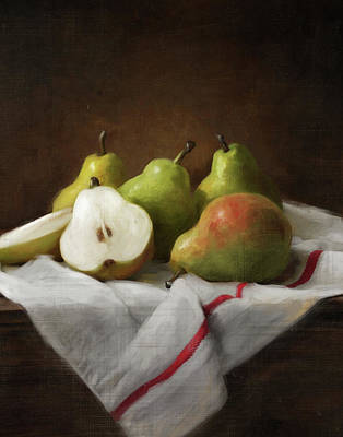 Cooks Illustrated Painting - Winter Pears by Robert Papp