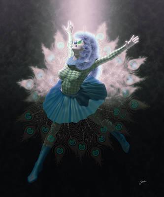 Cabaret Digital Art - Winter Pierrette by Joaquin Abella