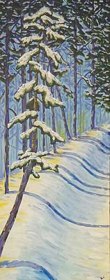 Painting Royalty Free Images - Winter Pine Royalty-Free Image by Kari Parkhouse