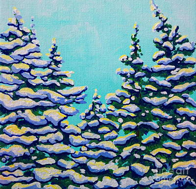 Painting - Winter Pines by Jackie Carpenter