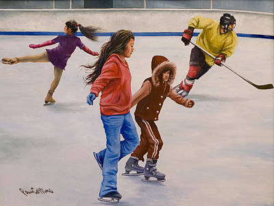 Painting - Winter Play by Paul Collins