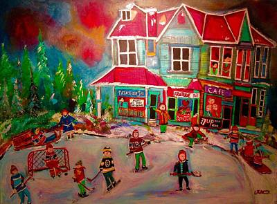 Painting - Winter Playground by Michael Litvack