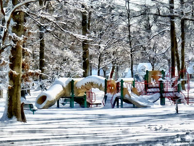 Photograph - Winter Playground by Susan Savad