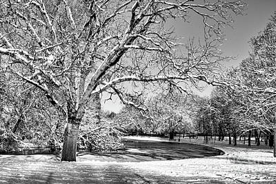 Photograph - Winter Pond In Mono by Baggieoldboy
