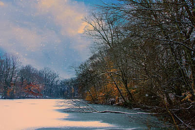 Photograph - Winter Pond by John Rivera