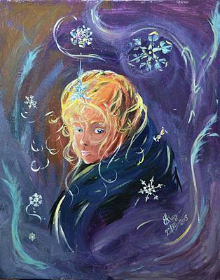 Painting - Winter Princess by Katerina Naumenko