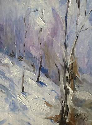 Painting - Winter Rage by Mary C Haneline
