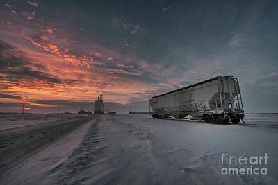 D800 Photograph - Winter Rail Car by Ian McGregor