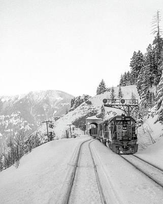 Photograph - Winter Railroading, Oregon by Frank DiMarco