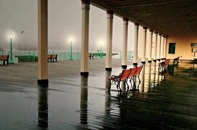 Photograph - Winter Rain On Deck by Diana Angstadt