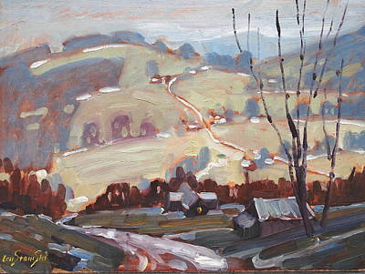 Painting - Winter Rain Study by Len Stomski