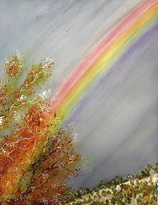 Painting - Winter Rainbow  by Carol Warner