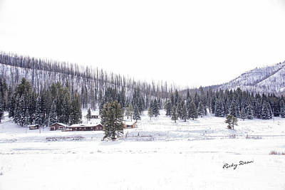 Photograph - Winter Ranch by Ricky Dean