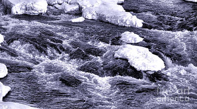 Photograph - Winter Rapids by Olivier Le Queinec
