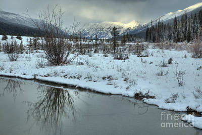 Photograph - Winter Refelctions In Beauty Creek by Adam Jewell