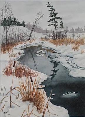 Winter Reflection Art Print by Debbie Homewood