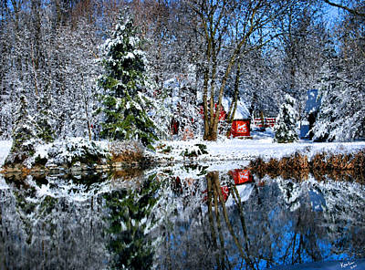 Winter Reflection Print by Kristin Elmquist