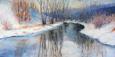 Winter Reflection Art Print by Ruth Mabee