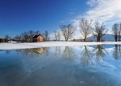 Photograph - Winter Reflection by Tim Kirchoff