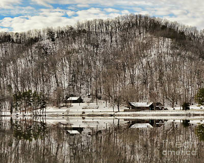 Photograph - Winter Reflections At Hungry Mother State Park by Kerri Farley