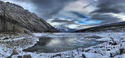 Winter Reflections At Medicine Lake Art Print by Adam Jewell