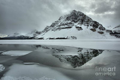 Photograph - Winter Reflections In Bow Lake by Adam Jewell