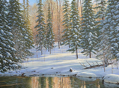 Painting - Winter Reflections by Jake Vandenbrink