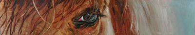 Bashkir Curly Horse Painting - Winter Reflections by Linda Massey