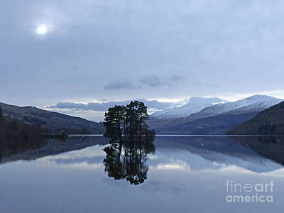 Photograph - Winter Reflections - Loch Tay by Phil Banks