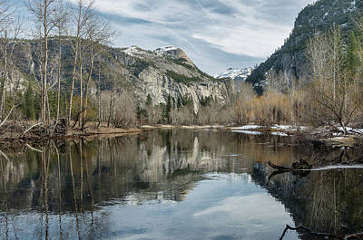 Photograph - Winter Reflections On Yosemite Valley by Greg Nyquist