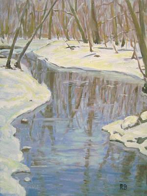 Winter Reflections Art Print by Robie Benve