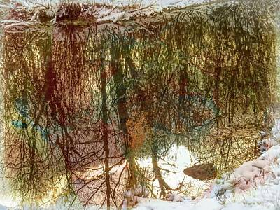 Digital Art - Winter Reflections by Rusty R Smith