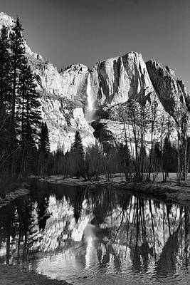 Art Print featuring the photograph Winter Reflections - Yosemite by Stephen  Vecchiotti