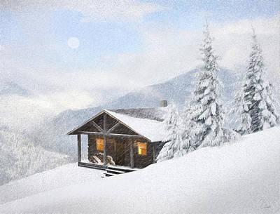 Winter Retreat Art Print by James Charles