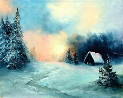 Winter Retreat Original by Sally Seago