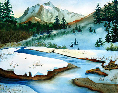 Winter Retreating Original by Karen Stark