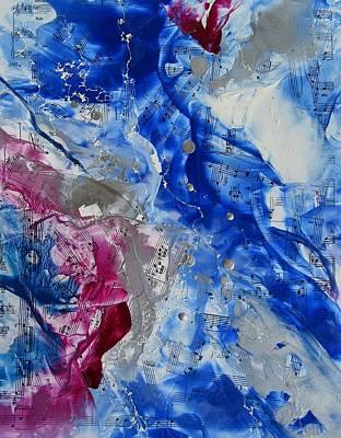 Encaustic Painting - Winter Rhapsody by Louise Adams
