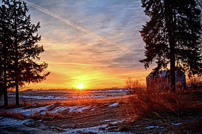 Photograph - Winter Rise by Bonfire Photography