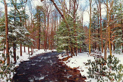 Photograph - Winter River by April Reppucci