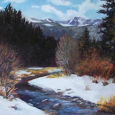 Painting - Winter River Bend by Donna Munsch