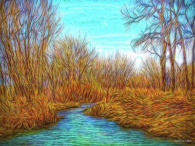 Digital Art - Winter River Breeze by Joel Bruce Wallach