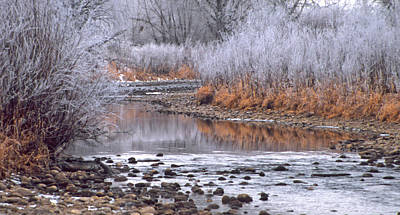 Fort Collins Photograph - Winter River by Bruce Gilbert
