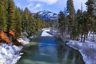 Photograph - Winter River Scene by Lynn Hopwood