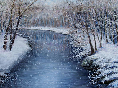 Painting - Winter River by Susan Jenkins