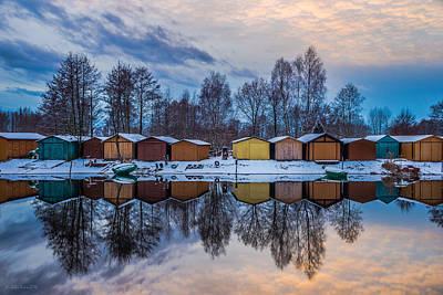 Photograph - Winter Riverside Reflected by Julis Simo